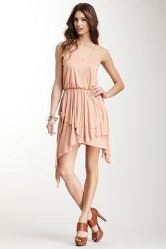 Cascade Dress. digging the neutral color