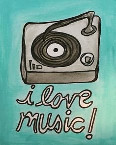 My love for music is unexplainable. I need to get a vinyl record player