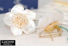 Italian Jewelry, gold earrings 18kt