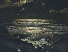An image of The night tide, 1915 by Julius Olsson