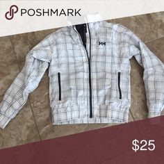 Helly Hansen coat White and gray plaid Helly Hansen coat Helly Hansen Jackets & Coats Puffers