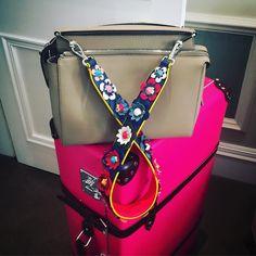"""@bat_gio's new travel companion! A #FendiDotCom bag matched with a flower embellished #StrapYou  #regram"""