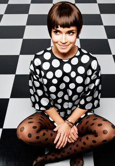 Miroslava Duma. #fashion #bolas #bolinhas