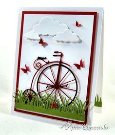 Vintage Bicycle by kittie747 - Cards and Paper Crafts at Splitcoaststampers