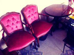 #rokoko chairs! pink velvet!