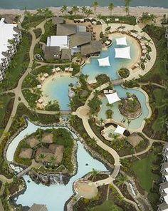 Radisson Blu Resort Fiji Denarau Island in Nadi Landscape Design Plans, Landscape Architecture, Architecture Design, Fiji Hotels, Hotels And Resorts, Holidays In September, Resort Plan, Pet Resort, Pool Designs