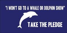 "I Take the Pledge ... ""I Wont Go To A Whale Or Dolphin Show"""