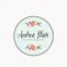 Flower Logo Photography Logo Florist Logo by stylemesweetdesign