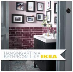 Hanging Art in a Bathroom Like Ikea