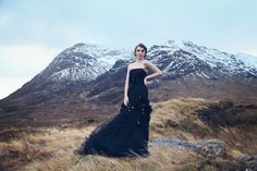 Scottish Highlands awe-inspiring, rugged landscape. This winter bridal shoot saw a team of creatives adventure to Glencoe amidst some wild weather to capture a little bit of magic. Wow! 2012 Black Gali #Enzoani
