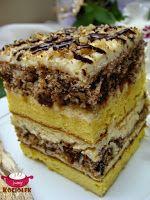 Kociołek Iwony: Ciasto luksusowe z masą ajerkoniakową Good Food, Yummy Food, Unique Desserts, Cake Bars, Polish Recipes, Food Cakes, Homemade Cakes, Something Sweet, Cake Recipes