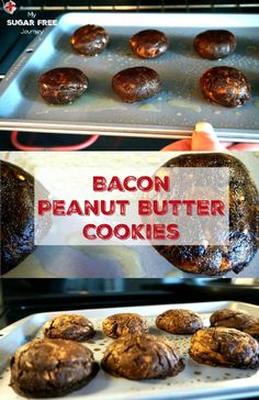It's always nice to find a tasty dessert recipe that is sugar free, low carb and ketogenic. I'm looking to expand my options of easy to make treats because sometimes I like to end my day with a nibble of something sweet. Sugar Free Recipes, Cookie Recipes, Keto Recipes, Dessert Recipes, Healthy Recipes, Easy Recipes, Bacon Cookies, Keto Cookies, Delicious Desserts