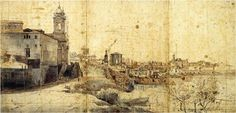 Gaspar van Wittel, Veduta panoramica di Roma da Trinità dei Monti, Courtesy Biblioteca Nazionale Centrale di Roma