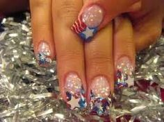 july 4th nails french tips