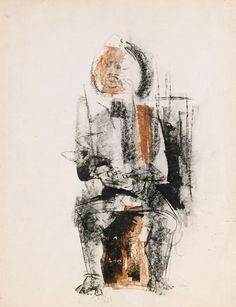 Seated Figure - Charles Alston  (Walter O. Evans Collection)