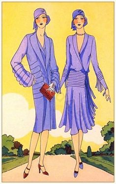 Art deco costumes by Couturier Philippe et Gaston 1929