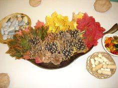 Autumn playdough provocations