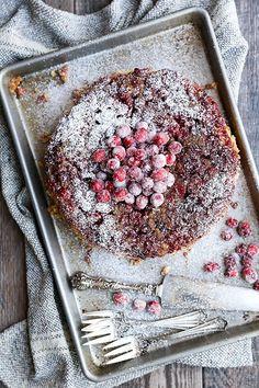 Cranberry Upside Down Cake | www.floatingkitchen.net