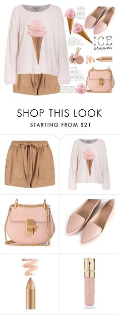 """Ice cream look"" by licethfashion ❤ liked on Polyvore featuring Boohoo, Wildfox, Chloé, Silent D, Smith & Cult, polyversary, polyvoreeditorial and licethfashion"