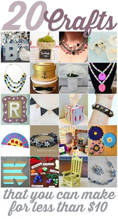 20 Crafts That You Can Make for Less Than $20 - Mad in Crafts