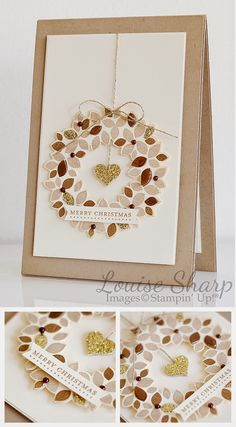 We love this beautiful Christmas Card using Wondrous Wreath