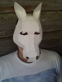 Make your own horse mask from cardboard digital download diy make your own horse mask from cardboard digital download diy mask solutioingenieria Gallery
