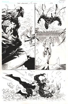 DARK AVENGERS / UNCANNY X-MEN: UTOPIA #1 PAGE 23 - Sequential Comic Art Work By Marc Silvestri