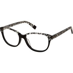 """Furla"" Black Web Preppy Optical Frames - TK Maxx Optical Frames, Tk Maxx, Furla, Preppy, Glasses, Black, Eyewear, Eyeglasses, Black People"