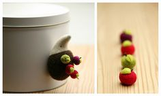 needlefelted hedgehog :: a magnetic pincushion by ola smith, via Flickr