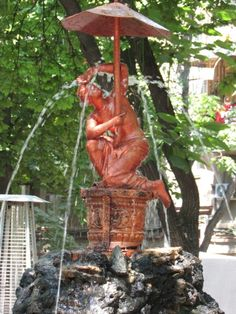 Odessa, Ukraine - Fountain outside the restaurants by the Opera House.