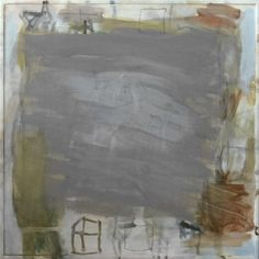 Kees Vossenstein, Herverkaveling, acryl en potlood op hout, 50x50 cm