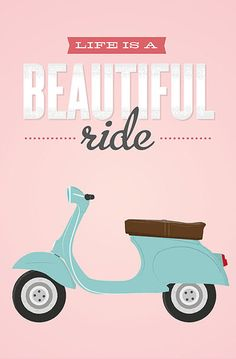 Lovely Clusters promotes handmade and independent shops! Iphone Wallpaper Kate Spade Backgrounds, Vespa Illustration, Bicycle Wallpaper, Islamic Cartoon, Drawing Wallpaper, Colorful Paintings, Retro Art, Grafik Design, Quote Prints