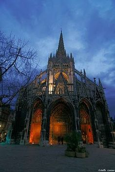St. Maclou Church, Rouen, France- later gothic: concentrated on refinement of detail rather than increased size