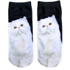 The Most Popular Casual kawaii Women's Low Cut short Sock Printed Cartoon Animal Cat Patterns Anklet Hosiery Art Socks Cat Haircut, Warm Socks, Sock Animals, Kawaii, Short Socks, Crazy Socks, Funny Socks, Novelty Socks, 3d Prints