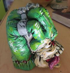 """Crash"" Painted Fist Skull Shift Knob - HouseOspeed - Hot Rod Shift Knob"