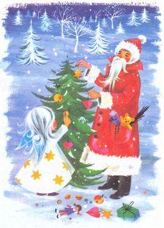 kersttaferelen - Bing Afbeeldingen Christmas Scenes, Christmas Nativity, Christmas Clipart, Christmas Past, Vintage Christmas Cards, Vintage Holiday, Felt Christmas, Christmas Angels, Vintage Cards