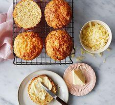 Classic cheese scones Cheese Scones, Cheese Soup, Bbc Good Food Recipes, Baking Recipes, Scone Recipes, Scones Recipe Bbc, Easy Cheese, Food Shows, Tray Bakes
