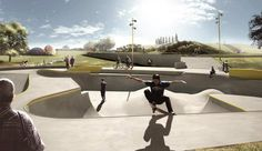 Worlds first skatepark combined with overflow water drainage system. Opened august 30th at Musicon Roskilde,Denmark