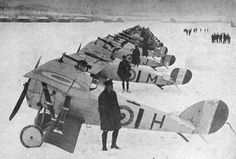 27 December 1917: No 1 Squadron with Nieuport 24s and 17s at Bailleul in France.