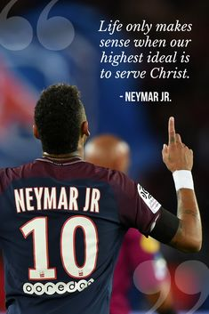 The Players' Testimony is a new media platform that aims to elevate the name of Jesus by allowing athletes to share their stories of faith. Soccer Memes, Soccer Quotes, Sport Quotes, Neymar Football, Football Team, Encouragement Quotes, Faith Quotes, Neymar Quotes, Neymar Jr Wallpapers