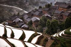 A mountain village, China. 20gorgeous real-life villages which came straight out offairytales