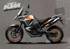 Twowheels+: KTM 1190 Adventure sketches