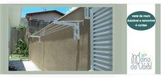 Outra excelente opção para quem mora em casa! Bases em alumínio com pintura eletrostática na cor branca. Bases dobráveis e removíveis, para...