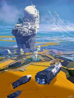 sparth:  Outpost Arrival.  new personal artwork. because spaceships. and outposts.  From one science fiction lover to another.