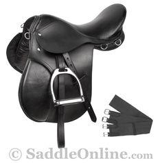 New Black All Purpose English Riding Saddle 15 18