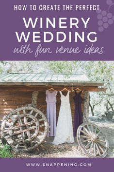 Winery Wedding Venues - The Delicate Details as featured by Snappening Winery Wedding Venues, Wagon Wheels, Lilac, Purple, Wedding Designs, Bridesmaids, Our Wedding, Backdrops, Delicate