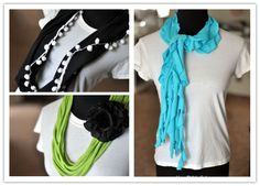 DIY Clothes - How To Make DIY No-Sew Infinity Scarves   DIY Tag