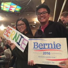 #feelthebern pt. 2, but this time we didn't get kicked out.