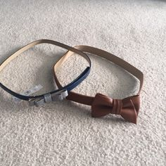 Two new loft belts Two new loft belts the brown is a size small the blue and silver a medium. LOFT Accessories Belts