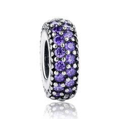Gift Charms Fit Pandora Original Bracelet Necklace 925 Sterling Silver Inspiration Within Spacer, Purple CZ Beads Silver Beads, Silver Charms, Fitness Bracelet, Silver Prices, Violet, Bracelet Designs, Sterling Silver Earrings, Silver Ring, Beaded Bracelets